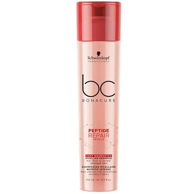 BC BONACURE PEPTIDE REPAIR RESCUE DEEP NOURISHING MICELLAR SHAMPOO THICK TO NORMAL HAIR 250ML
